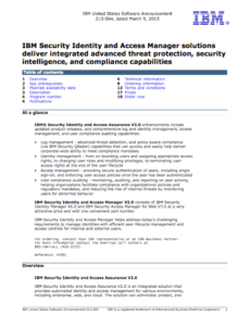 IBM Security Identity And Access